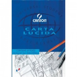 Blocco di carta lucida Canson da 10 fogli 82.5g/m - A4 210x297 mm