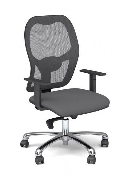 """Seduta Operativa """"Galassia Rete Evo"""" con schienale in rete a supporto lombare"""