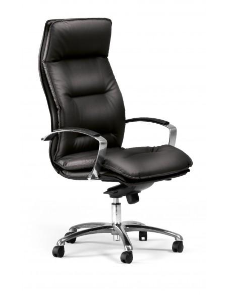 """Seduta Direzionale """"Formen"""" con schienale alto e base nera"""