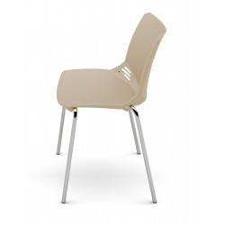 """2 Sedute """"F 01"""" sedie a 4 gambe con sedile e scdinale in polipropilene"""