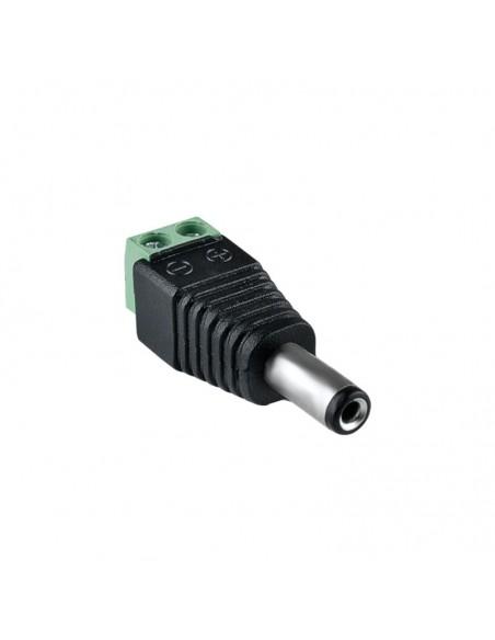 Adattatore Connettore DC MASCHIO 12V 5.5 / 2.1 per alimentazione a vite videosorveglianza telecamera