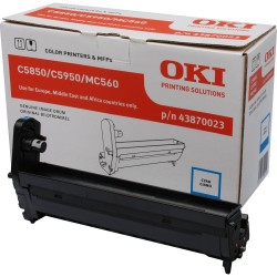 Drum originale Oki 43870023 ciano per C5850/C5950/MC560 (20 000 pag)
