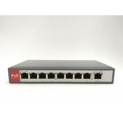 Switch 8 POE + 1 UPLINK 10/100 IEEE 802.3 AF/AT 48V 54V - 150W