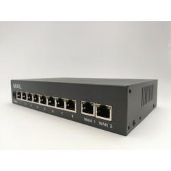 Switch 8 POE + 2 UPLINK 10/100 IEEE 802.3 AF/AT 48V -  120W