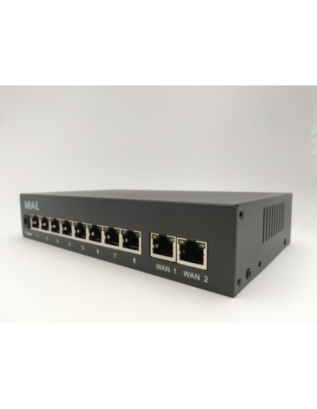 Switch 8 POE + 2 UPLINK 10/100 IEEE 802.3 AF/AT 48V 52V - 96W