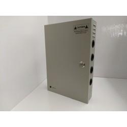 Alimentatore switching 12V 15000ma 15A 9 CANALI CH - Videosorveglianza - BOX ACCIAIO - CASSETTA con chiavi - telecamere