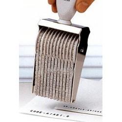 Timbro alfanumerico numeratore manuale 20 bande a rullo Trodat caratteri altezza 3mm