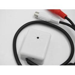 Microfono ambientale 100mq alta sensibilità regolabile cablato , adatto per sistemi di sicurezza professionali