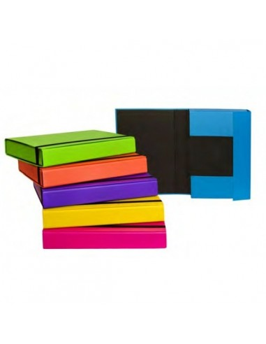 Cartella portaprogetti Fluo con elastico Dorso dorso 7 cm