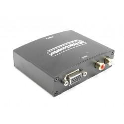 VGA + R/L TO HDMI Video e Audio Converter - 5 V 1080p