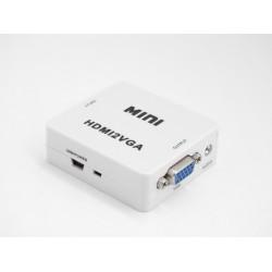 HDMI TO VGA Video e Audio Converter - 5 V 1080p MINI
