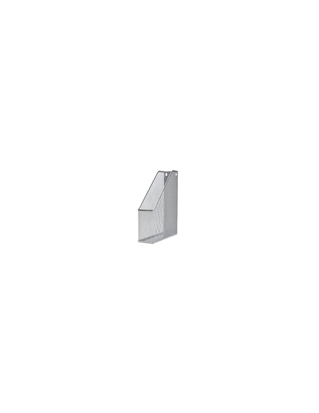 adatto a documenti in formato A4 Portadocumenti per ufficio a 3 ripiani in rete metallica argentata fogli App 35cm x 30cm x 26cm Silver lettere