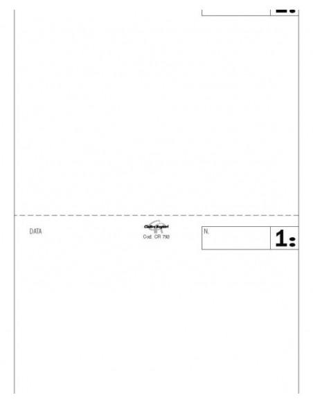 Blocco Comande - 25 Moduli in carta chimica autoricalcanti in duplice copia- 2 Tagliandi