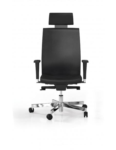"""Seduta direzionale """"Hello"""" con schienale alto e supporto lombare"""