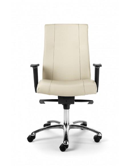 """Seduta direzionale """"Galassia"""" con schienale alto legnoe braccioli regolabili"""