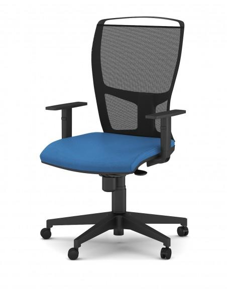 """Seduta Semi-Direzionale """"Athena Rete Evo"""" con schienale medio in rete nero, supporto lombare"""