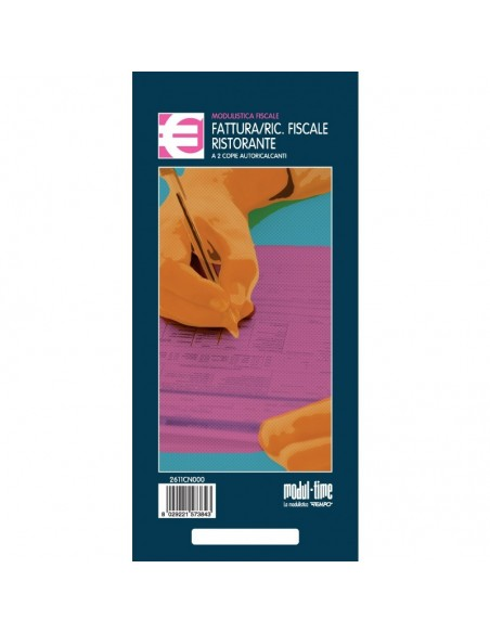 Fatture / Ricevute Fiscali - RISTORANTI - 10X23 cm - 50 moduli duplice copia - 2 COPIE